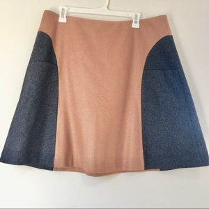 Boden Colorblock Freya Grey and Camel A-line Skirt
